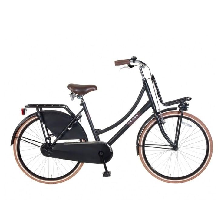 popal urban transportfiets 26 inch zwart