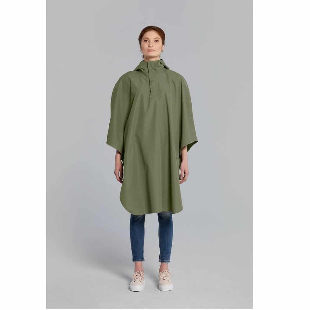Basil poncho Hoga unisex Olive Green one size